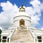 The white stupa of the World Peace Pagoda