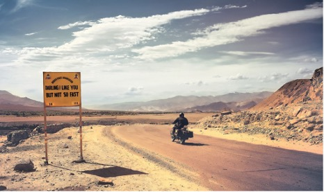 Rider on road