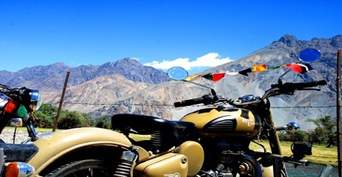 view from Leh to Nubra Valley on bike trip